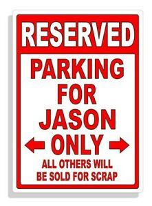 Personalized Parking Sign Wall Decal Metal Sign No Parking Customized for JASON