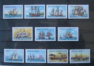 GB#  SIERRA LEONE  VERY NICE LOT  SHIPS  **/MNH