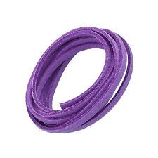 Violet (3x1.5mm) Ultra Micro Fibre Daim Plat Cordon 1 mètre (N81/9)