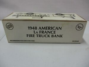 ERTL 1948 American La France Fire Truck Bank Manchester 1/30