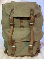 Swiss Army 1971 Canvas Leather Military Rucksack