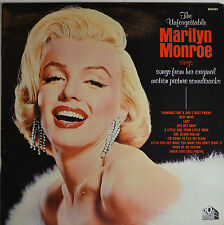 """THE UNFORGETTABLE MARILYN MONROE - FRENCH PRESS 12""""  LP (P846)"""