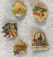 1986 Walt Disney World Magic Kingdom 15 Years 5 Pin Collector Set