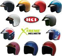HCI 10 Helmet 3/4 Open Face Motorcycle ATV Off Road DOT XS-2XL