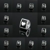 Wholesale Alphabet Letter Big Hole Spacer Alloy European Charm Bead Bracelet DIY