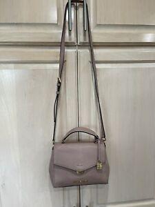 Michael Kors Leather Bristol Satchel Handbag + Crossbody Strap
