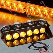 6 LED Amber Light Emergency Car Vehicle Warning Strobe Flashing Yellow Security