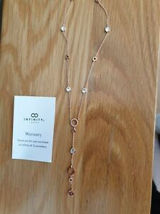 Necklace Infinity 18ct rose gold plated.