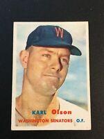 F64383  1957 Topps #153 Karl Olson SENATORS