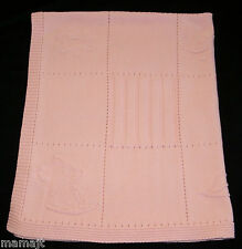 Child Of Mine Pink Animal Cotton Knit Baby Blanket Sun Elephant Flower Block