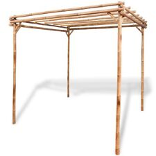 Bamboo Pergola Wooden Garden Outdoor Decor Roof Shade Wood Durable Pergolas