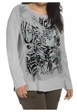 JUST MY SIZE Plus Size Long Sleeve Shirt Top 2X 18w 20w Textured Animal Print