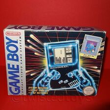 VINTAGE 1993 NINTENDO GAME BOY DMG-01 COMPATTA VIDEO GAME SYSTEM + TETRIS BOXED