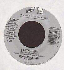 "Ronnie Milsap - Earthquake / Old Folks + line dance sheet instruction 7"" 45rpm"