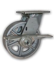 """6"""" x 2"""" Swivel Steel Caster w/ Brake & Semi Steel Albion Wheel 1250# Capacity"""