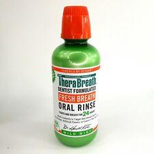 TheraBreath Mild Mint Fresh Breath Oral Rinse 16 oz Fights Bad Breath 24 Hours