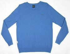 Sligo Blue V-Neck Wool Blend Golf Sweater Size Small MINT!