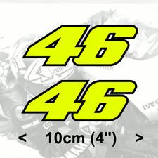"Valentino Rossi Sticker FLUORESCENT YELLOW number 46 vinyl (v1 - 4"" 10cm)"