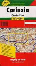 CARTE ROUTIERE DE CARINZIA CARINTHIE  ROAD MAP - FREYTAG & BERNDT  1:150 000