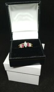 Diamond and ruby wedding rings set. Pre-owned excellent condition. Size 7.5