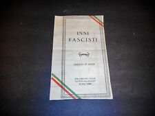 Vintage Program for concert in NY Honoring BENITO MUSSOLINI Fascist early1900's
