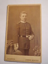 Dresden Neustadt - 1882 - stehender Soldat in Uniform - Portrait / CDV