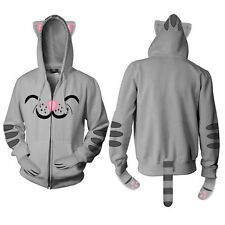 The Big Bang Theory Soft Kitty Zippered Hoodie Ears Paws Tail Size MEDIUM UNWORN