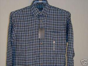 Van Heusen Long Sleeve Shirt Lt. Blue Green Red S Men's Clothing New