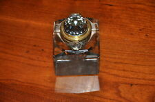 Outstanding Vintage Glass Inkwell with Faceted top