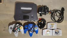 New listing Nintendo 64 Charcoal Grey Bundle: 2 Controllers / 3 Games + Expansion Pak Tested