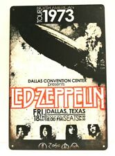 Led Zeppelin 1973 Concert Tour Zep Tin Sign Man Cave Retro Advertising Poster