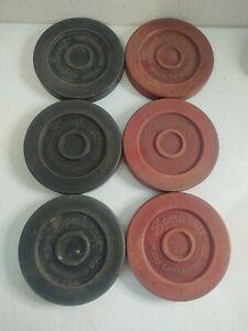 "VTG Sportcraft Official Shuffleboard 6"" Replacement Disc Lot (3) Red (3) Black"