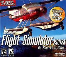 Microsoft Flight Simulator 2002 As Real It Gets PC 3 CD-ROM Game Sim Model10686