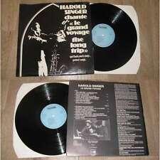 HAROLD SINGER & GEORGES ARVANITAS - The Long Trip Rare French LP Private Jazz 77