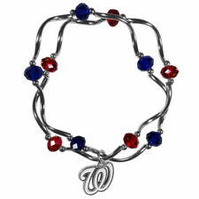 Washington Nationals Crystal Beads Bracelet Licensed MLB Baseball Jewelry