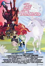 LAST UNICORN Movie POSTER 27x40 B Alan Arkin Jeff Bridges Tammy Grimes Angela