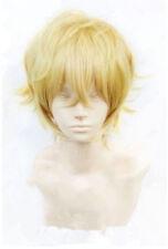 Para Japón Anime Karneval Yogi Cosplay Short Peluca de fiesta de convención Blonde rizado