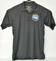 511 Tactical Series Men's Short Sleeve Solid Black Polo Collar Shirt Size Large