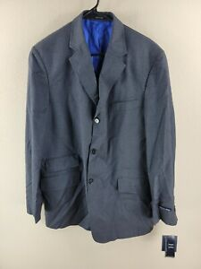 Men's Gray NWT Tommy Hilfiger Made in Italy Button Down Blazer Jacket Size 42RG