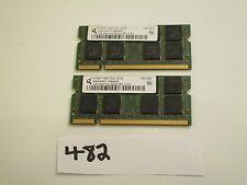 Qimonda 2x1Gb=2Gb 667Mhz PC2-5300 2Rx8 200pin DDR2 SODIMM laptop memory RAM (482