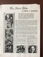 K1k Ephemera 1940s Film Article The Short Film Fred C Quimby