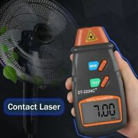Digital Laser Foto Tachometer Pistole Berührungslose Drehzahlmesser
