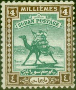 Sudan 1922 4m Green & Chocolate SG33 Fine Mtd Mint (2)