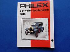 Briefmarken-Katalog  Philex für  Schweiz- Liechtenstein  Marken 2016   farbig