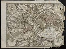Mappemonde ancienne de Seutter Matthaeus (1730c) Carte géographique ancienne
