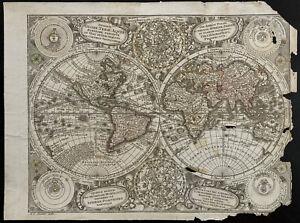 World Map Ancient Seutter Matthaeus (1730c) antique map