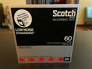 """Scotch 211 REEL to REEL Blank Tape 60 minutes 7"""" NEW Vintage 1/4"""""""