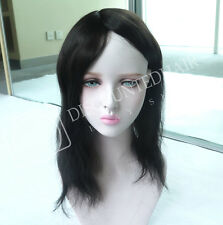Human Hair Replacement for Women Top Piece Silk Lace Natural Hairpieces System