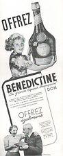 ▬► PUBLICITE ADVERTISING AD BENEDICTINE LIQUEUR D.O.M 1938