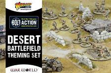 DESERT BATTLEFIELD THEMING SET - BOLT ACTION - WARLORD GAMES -WW2 WARGAMING 28MM